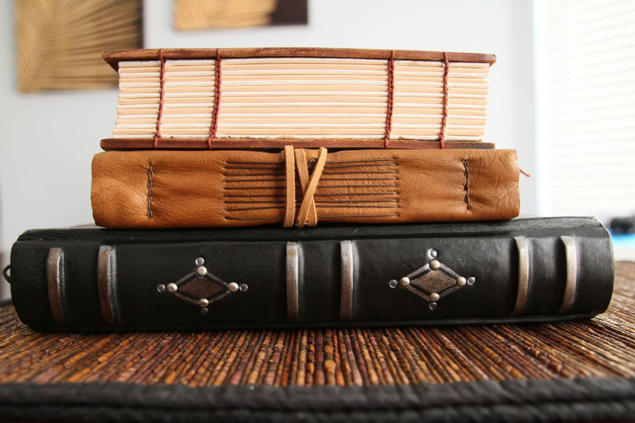 Hand made books made by Teo Studio