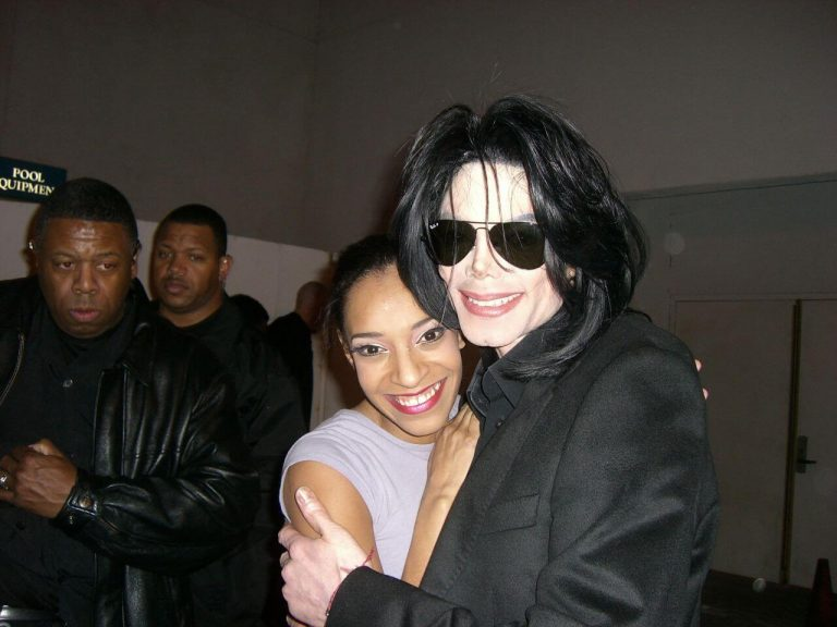 Michael Jackson and Natasha Jean-Bart