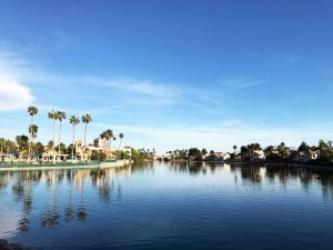 Desert Shores community lake